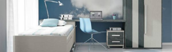 Dormitorios juveniles color y funcionalidad for Muebles juveniles sevilla