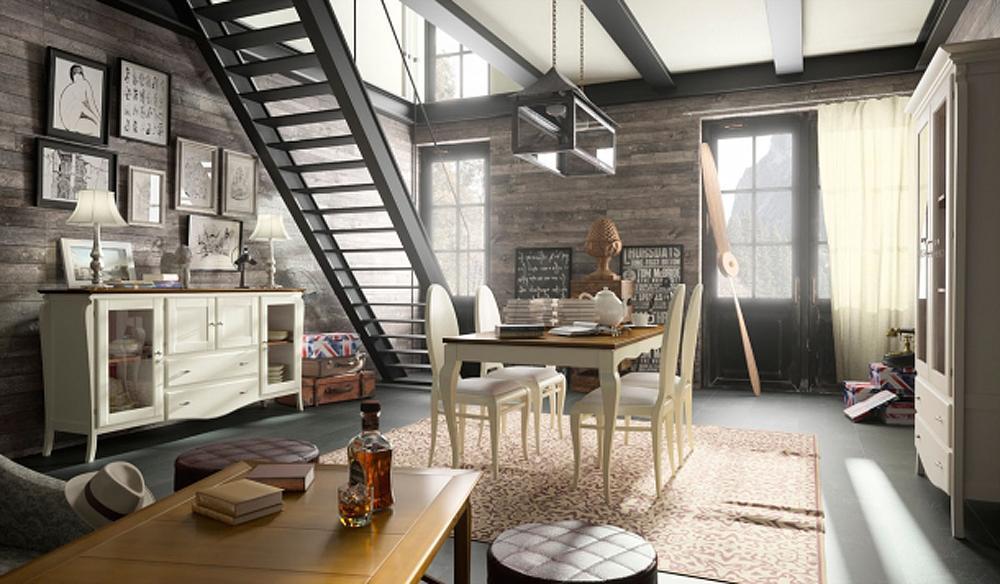mueble salon rustico